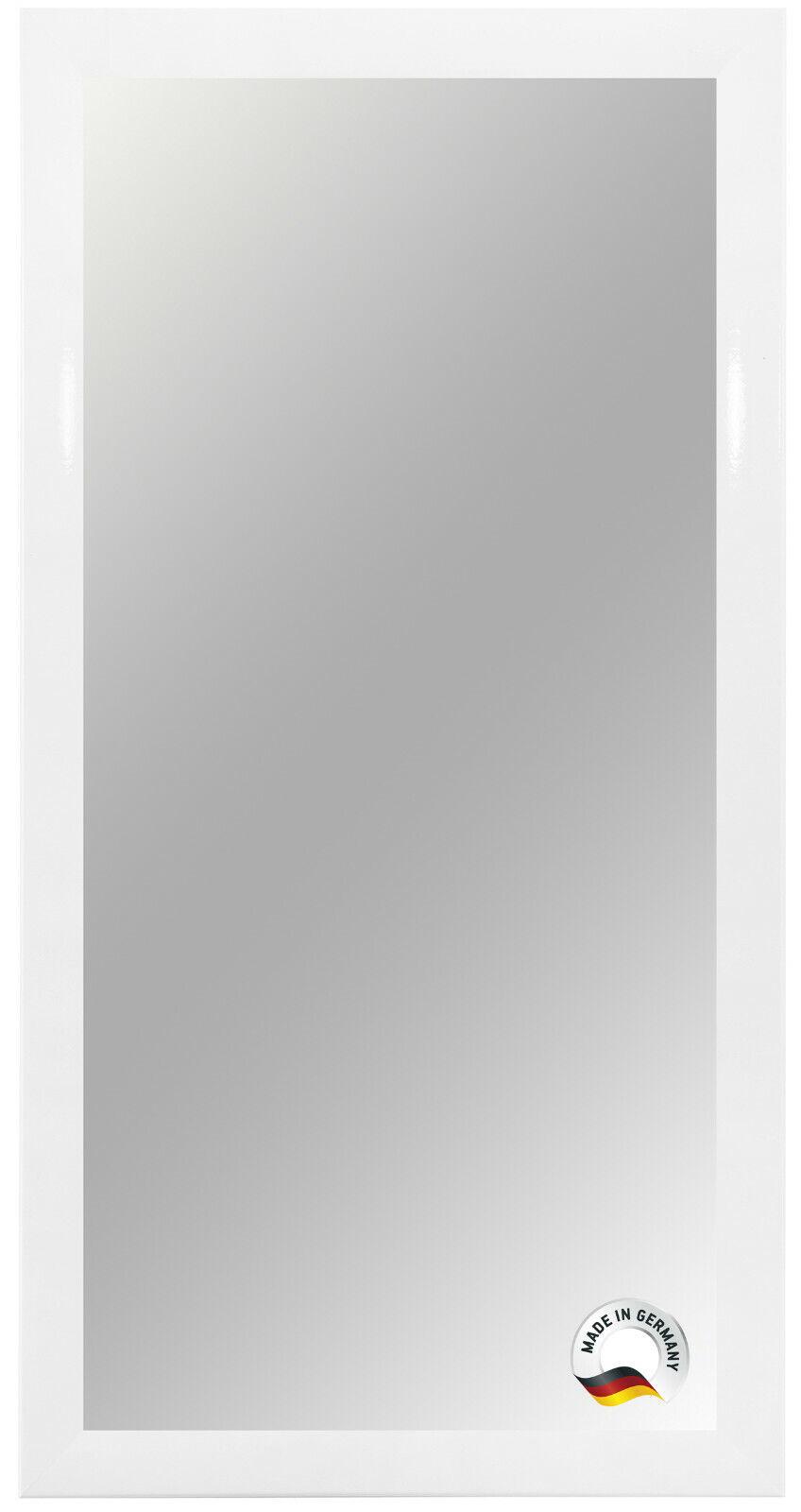Spiegelrahmen nach Maß - Weiss matt - Spiegel Wandspiegel Badspiegel Bad Flur