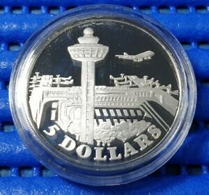 1981-Singapore-Changi-Airport-Commemorative-5-Silver-Proof-Coin