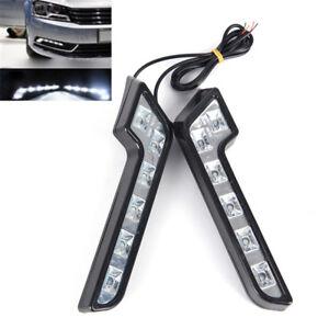 2-x-Bright-6LED-Super-White-Car-Driving-Light-Fog-12V-DRL-Daytime-Running-LightH