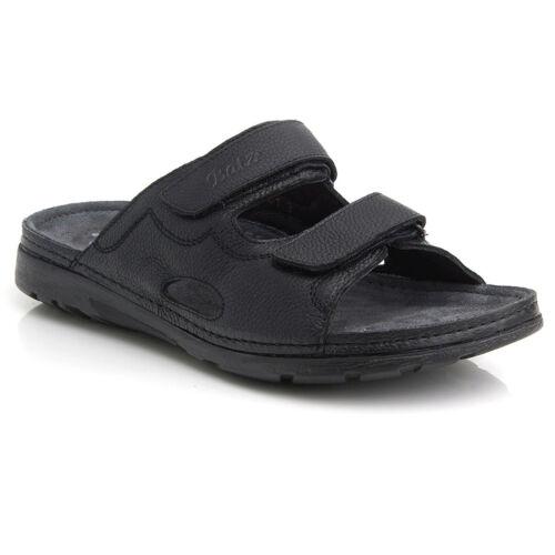 Batz MIKE Black Top Quality Handmade Leather Slip-on Sandals for Men UK 7.5-11