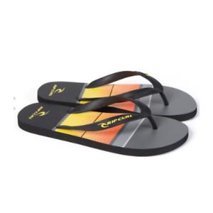 Mens Flip Flops Black /& Orange Rip Curl Bob Cush Flip Flops