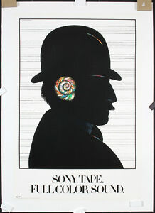 Original-1980-MILTON-GLASER-Modern-Design-SONY-Poster-Lot-98