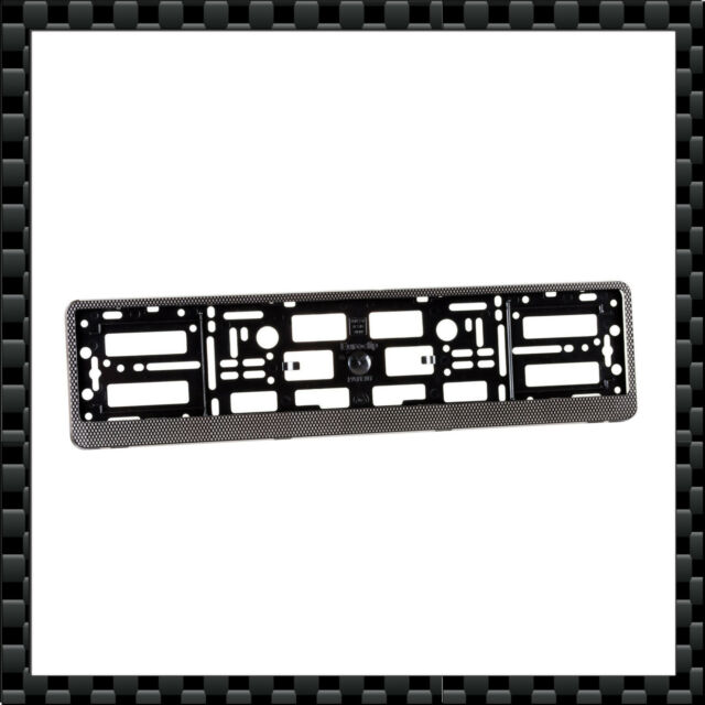 2 X Carbon Number Plate Holders Frames Licence Plate Surrounds for ...