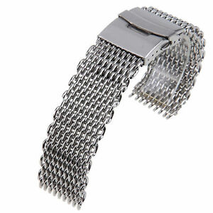 18-20-22-24mm-Stainless-Steel-Dive-Shark-Mesh-Milanese-Watch-Bracelet-Strap-Band