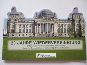 Deutschland-20-Jahre-Wiedervereinigung-postfrisches-Markenheftchen-2000