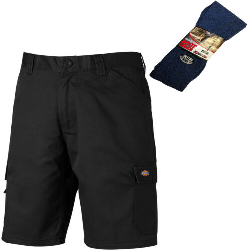 Dickies Everyday Multiple Poche Short Noir /& 1 paire de chaussettes BOOT