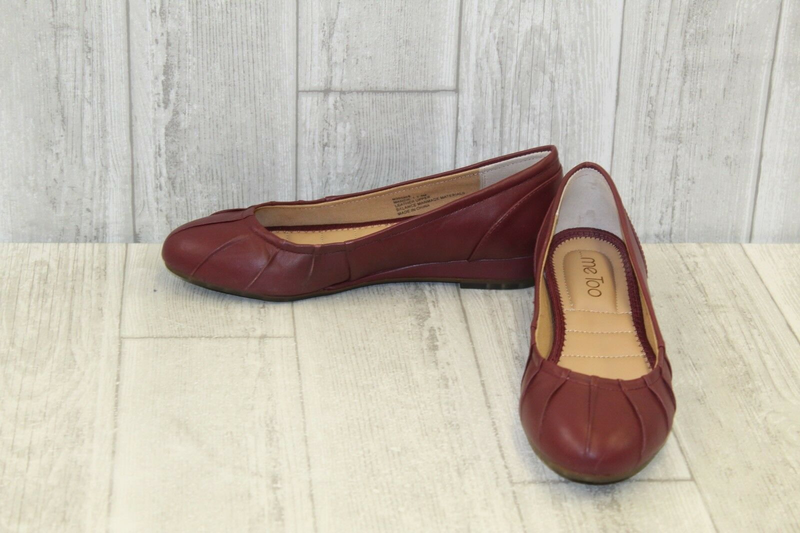 Me Too Marcie Pleated Wedge Pumps - Women's Size 7.5 M - Deep Wine
