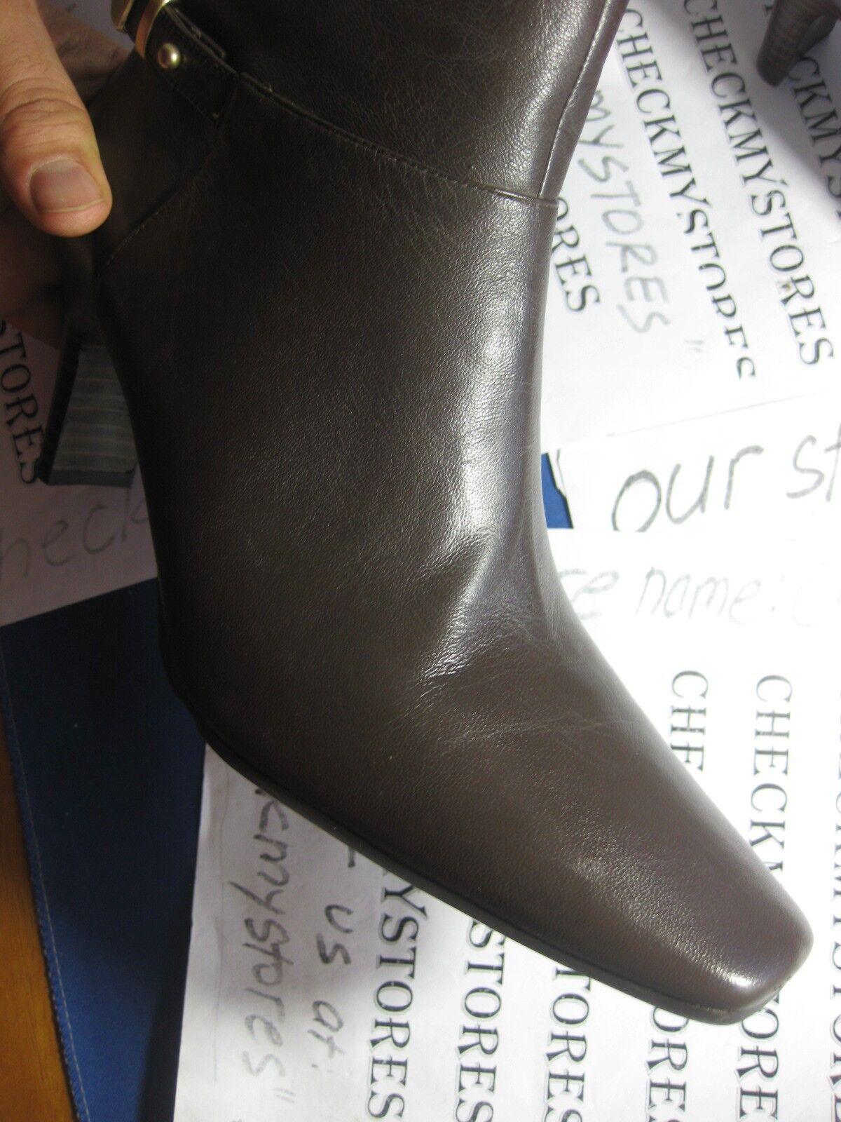 NIB NEW  Ankle  Bandolino Embellish Leder Ankle  Stiefel SIDE ZIPPER COMFORT DURABLE 4edb51