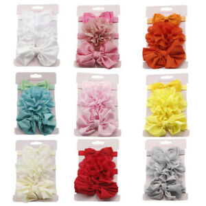 HO-3Pcs-Infant-Baby-Girl-Bow-Flower-Elastic-Headband-Headwear-Hair-Band-Eyeful