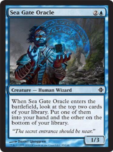 Magic Card ROE 4x MTG: Sea Gate Oracle Blue Common Rise of the Eldrazi
