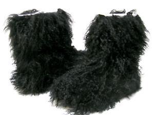aab94274723 Details about UGG FLUFF MOMMA MONGOLIAN WOMEN BOOTS BLACK US 5 /UK 3.5 /EU  36 /JP 22