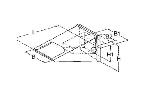 Baggerzahn Laderzahn flach Cat-System J250 1U3252 Zahn Bau