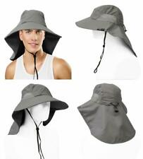 b7660adb Sun Blocker Outdoor Protection Fishing Cap with Neck Flap, Wide Brim Hat  for.