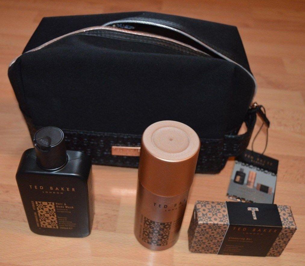 ee964e9d83 Ted Baker Mens Cricklewood Bag Gift Set Hair Body Wash Deodorant ...