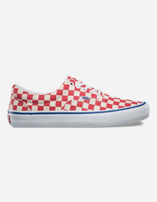 Vans Era size Pro [checkerboard] Rococco Red wHITE New size Era 13.0 Uomo 215243