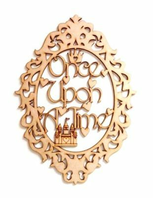 Laser Cut /'Once upon a time/' Fairytale Framed Quote