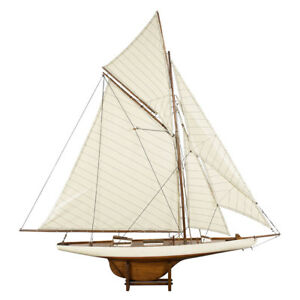 Columbia-America-039-s-Cup-1901-J-Class-Yacht-Wooden-Model-45-034-Sailboat-New