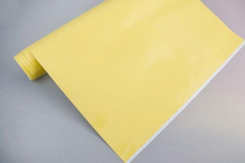 3,2€//m² Plotterfolie glänzend 19 schwefel gelb 30x106cm Möbelfolie selbstklebend