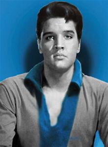 Elvis Presley blauer Magnet 6x8 cm Kraftmagnet Kühlschrankmagnet PC301/230