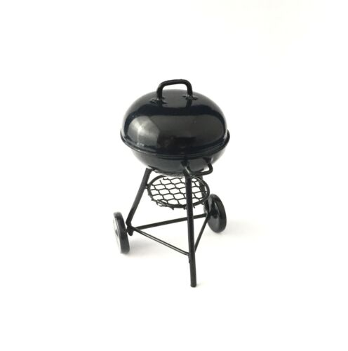 DOLLHOUSE MINIATURES SMALL ROUND CHARCOAL GRILL