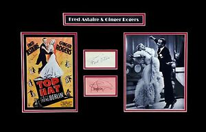 Details about Fred Astaire & Ginger Rogers Original Autographs