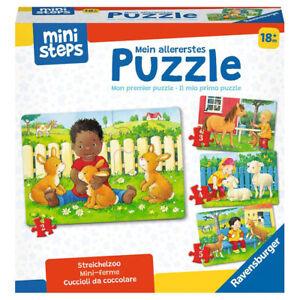 RAVENSBURGER ministeps Mein allererstes Puzzle: Streichelzoo Kinderpuzzle