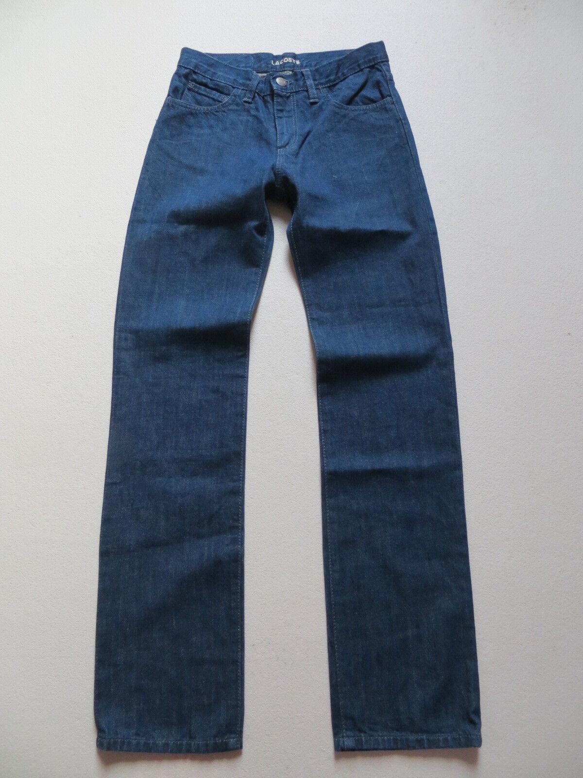 Lacoste Jeans Hose W 26  L 32 wie NEU   klassisch gerade Indigo Denim RAR