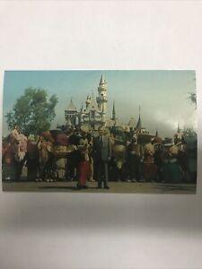 Vintage Walt Disney And Friends Postcard 1960s Disneyland The Magic Kingdom