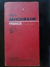 GUIDE MICHELIN ROUGE FRANCE 1983