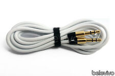 Extra Long WHITE 3.5mm Gold Jack Audio AUX Cable Cord Lead for Beats by Dr Dre