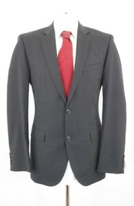 HUGO BOSS Anzug The Jam1 Sharp1 Gr.50 schwarz gestreift Einreiher 2-Knopf -C43