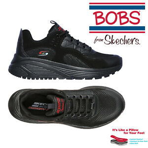 Arbitraje Agotamiento Transitorio  Womens Skechers Bobs Sport Sparrow 2.0 Urban Sounds Black Suede Sneaker  Trainers | eBay