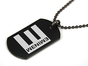 save off e0cd6 1cca0 ... Image is loading EMINEM-Black-Dog-Tag-Pendant-Necklace ...