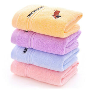 Cotton-Soft-Bath-Towels-Baby-Kids-Children-Washcloth-Face-Hand-Towel-Adroit