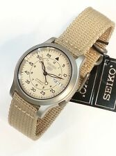 SEIKO 5 Men Military Automatic Watch SNK803 SNK807 SNK805  SNK809 Nylon/ Canvas