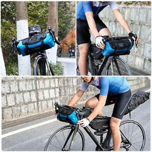Outdoor-MTB-Bike-Bicycle-Handlebar-Bag-Front-Frame-Tube-Pouch-Basket-Pannier-lot