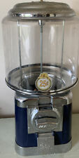 Beaver Navy And Chrome Gumball Candy Nut Bulk Vending Machine With Lock And Key