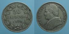 PIO IX 20 BAIOCCHI 1860 A.XV ROMA mBB