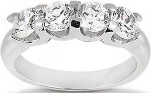 1-54-carat-4-Round-DIAMOND-Wedding-U-shape-Band-Anniversary-14K-Gold-Ring