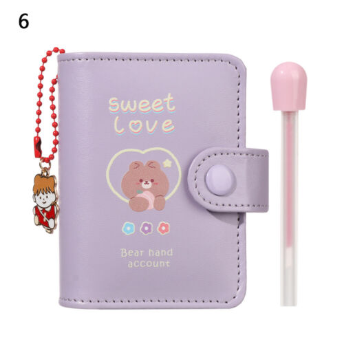 Pages Memo Pad with Pendant Pocket Diary Daisy Notebook PU Cover Journal Book