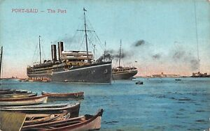 POSTCARD-EGYPT-PORT-SAID-The-Port