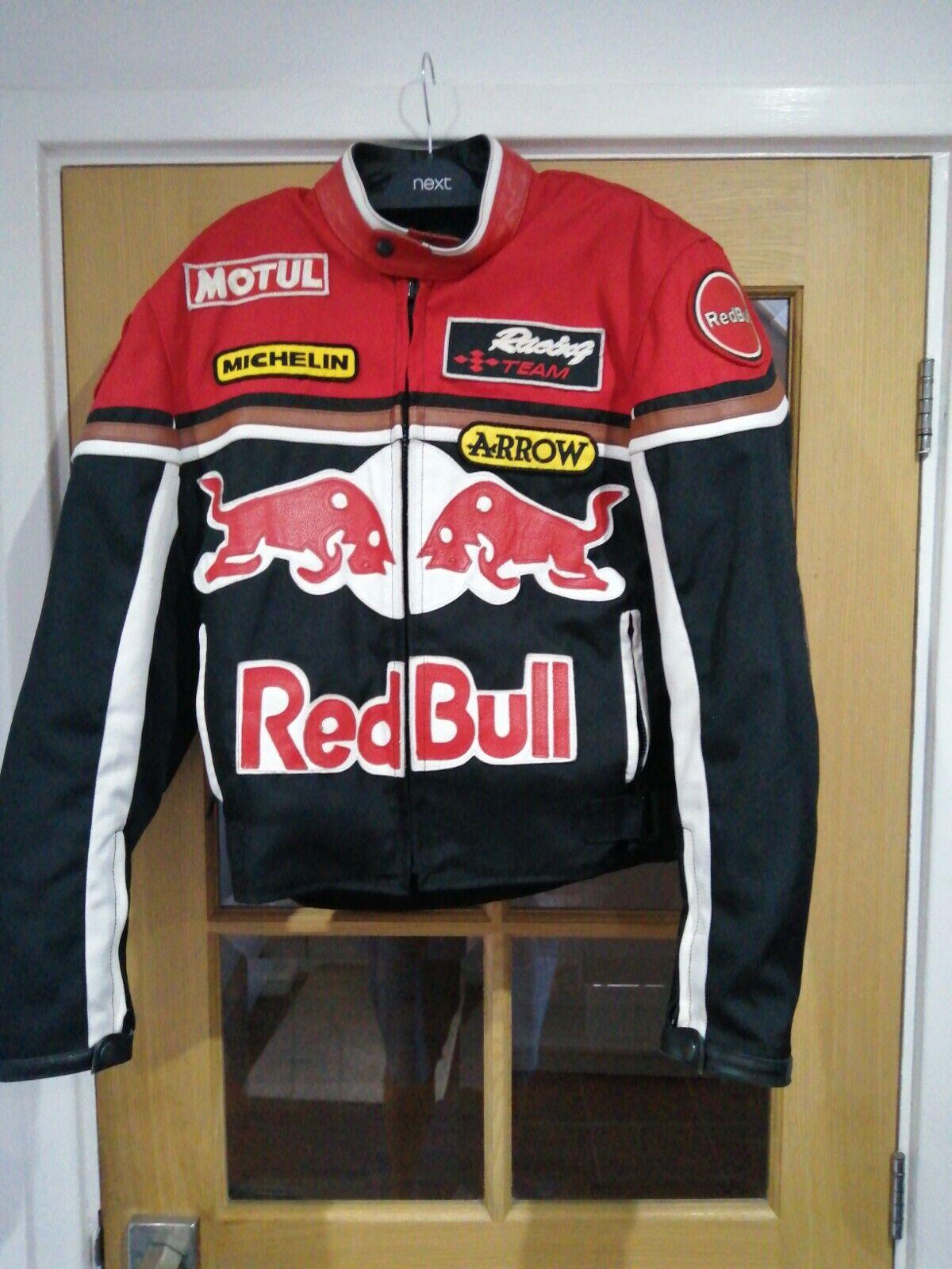 Vintage Red Bull motorcycle / motorbike / biker jacket size small cool jacket