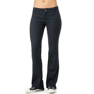 Cool  Womens Navy Blue Warm Long Fleece Open Hem Training Gym Sweat Pants