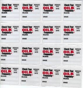 28-GENERIC-STATIC-CLING-OIL-CHANGE-STICKER-DECALS