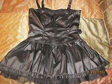 Lip Service 38-629 HT Black Matte Stud Dress (L)
