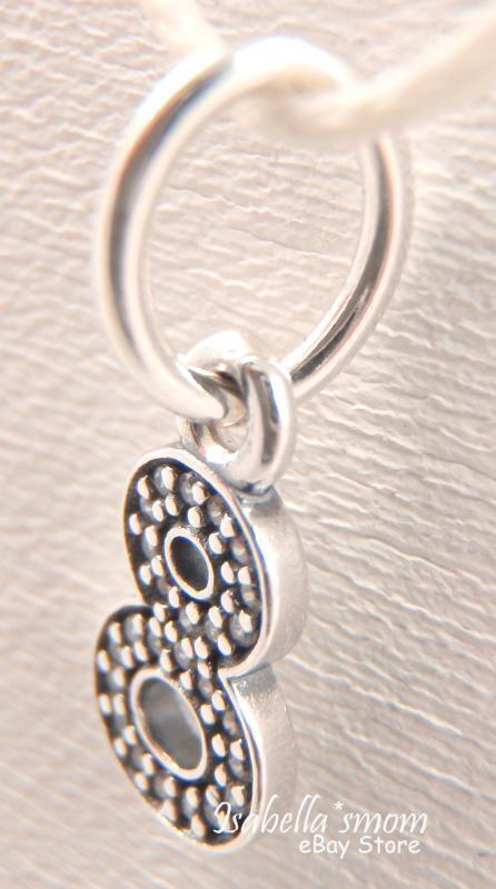 66134-224 10 Number 8 Charm Double Side Antique Silver Tone