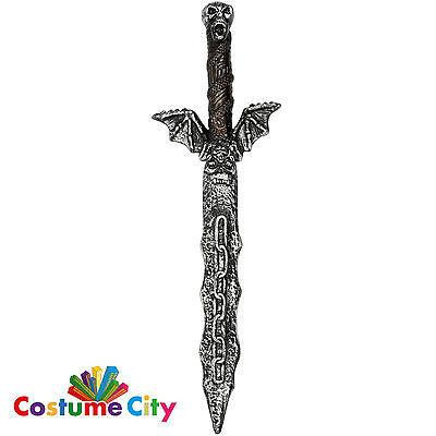 Adults Prop Flying Skull Sword Warrior Halloween Fancy Dress Costume Accessory