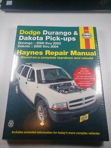 Haynes 30022 Repair Manual For Dodge Dakota 2000 04 Dodge Durango 2000 03 Ebay