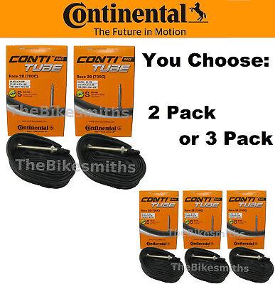 MultiPack Continental Race 28 Light 700 x 18-25 60mm Presta Valve Road Bike Tube