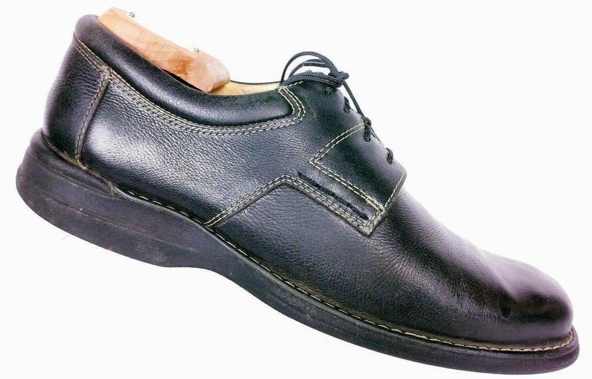 Johnston Murphy Men's Black Sheepskin Pebbled Leather Oxford Dress shoes 10 M